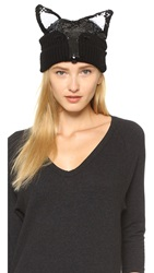 Markus Lupfer Fox Face Beanie Hat Black