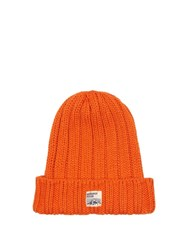 Mt. Rainier Design Mr61339 Ribbed Knit Beanie Hat Orange