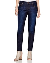 Eileen Fisher Petites Straight Cropped Jeans In Deep Indigo