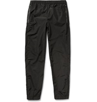 Tim Coppens Slim Fit Leather Trimmed Shell Trousers Black