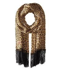 Betsey Johnson Swanky Leopard Wrap Brown Scarves