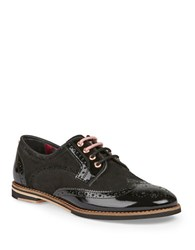 Ted Baker Anoihe Patent Leather Oxfords Black