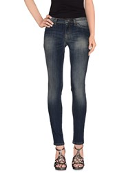 Gold Case Denim Denim Trousers Women Blue