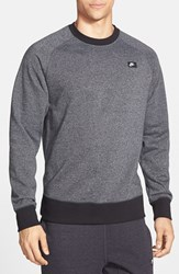 Men's Nike 'Aw77' French Terry Crewneck Sweater Cool Grey Black Heather