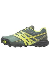 The North Face Ultra Mt Trail Running Shoes Duck Green Lime Green