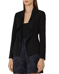 Reiss Sienna Draped Lapel Blazer Black