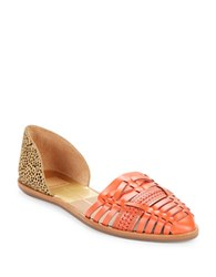 Dolce Vita Lucilla Calf Hair And Leather Sandals Salmon