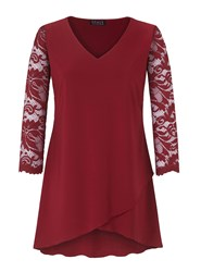 Grace Made In Britain Tulip Hem Tunic Red