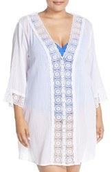 Lablanca Plus Size Women's La Blanca 'Island Fare' V Neck Tunic Cover Up
