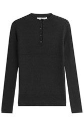 Rag And Bone Wool Pullover With Silk Black