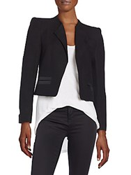 Zadig And Voltaire Cropped Solid Jacket Black