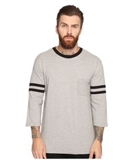Obey Murraysville 3 4 Sleeve Tee Heather Grey Multi Men's T Shirt Gray