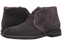 Aquatalia By Marvin K Carlos Dark Charcoal Oiled Waxy Suede Men's Lace Up Boots Gray