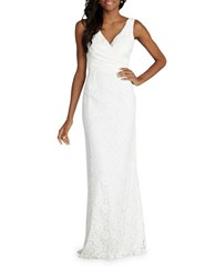 Donna Morgan Sleeveless Sheath Gown Ivory