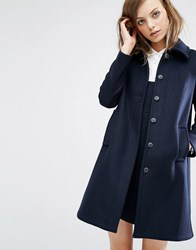 Baandsh Wish Pea Coat Navy