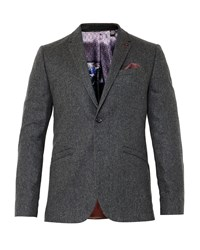 Ted Baker Austin Wool Twill Jacket Charcoal