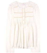 See By Chloe Cotton And Linen Blouse White