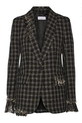 Sonia Rykiel Embellished Metallic Tweed Blazer Black
