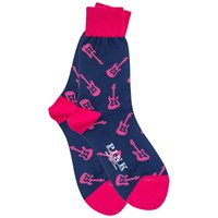 Thomas Pink Marlow Guitar Socks Navy Navy Pink