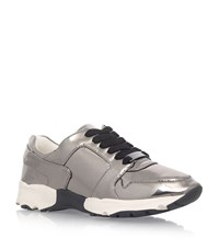 Carvela Kurt Geiger Lacrosse Metallic Sneakers Female Grey