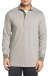 Bobby Jones Men's Houndstooth Long Sleeve Polo Safari