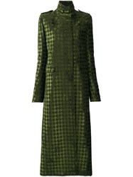Haider Ackermann Houndstooth Fitted Coat Green