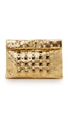 Marie Turnor Accessories Crystal Stud Lunch Clutch Gold