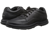 Rockport World Tour Classic Black Tumbled Leather Men's Lace Up Casual Shoes