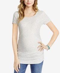 Jessica Simpson Maternity Striped Tee Grey