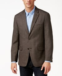 Tommy Hilfiger Men's Classic Fit Textured Brown Sport Coat