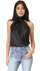Emerson Thorpe Julia Tie Back Halter Top Black