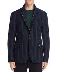 Scotch And Soda Vertical Stripe Slim Fit Blazer Green