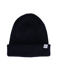 Norse Projects Navy Lambswool Hat Blue