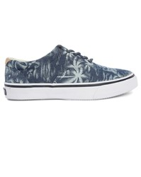 Sperry Blue Palm Tree Printed Sneakers