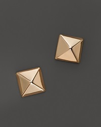 Bloomingdale's 14K Rose Gold Small Pyramid Post Earrings Pink