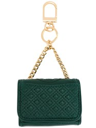Tory Burch 'Fleming' Keyfob Green