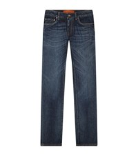 Dolce And Gabbana Whiskered Faded Jeans Male Blue