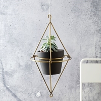 Hanging Wire Pot Bracket Plated Brass West Elm