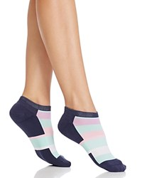 Happy Socks Thick Stripe Low Cut Ankle Navy Combo