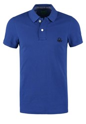 United Colors Of Benetton Muscle Fit Polo Shirt Royal Royal Blue