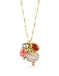 Les Nereides Eclatante Discretion Little Snake Rose And Stars Necklace Gold