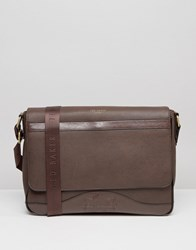 Ted Baker Bag Messenger Embossed Brown