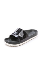 United Nude Lo Res Earth Slide Sandals Black