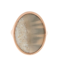 Monique Pean Fossilised Walrus Ivory And Rose Gold Ring