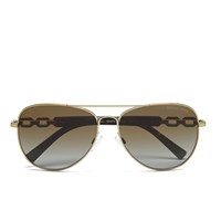 Michael Michael Kors Women's Fiji Glam Chain Link Sunglasses Gold