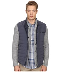 Vince Quilted Nylon Down Fill Gilet Pewter Men's Clothing