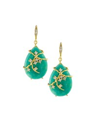 Indulgems Green Amazonite Vine Drop Earrings Women's