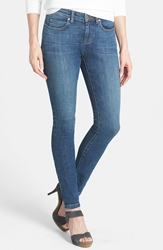 Eileen Fisher The Fisher Project Organic Cotton Denim Skinny Jeans Aged Indigo