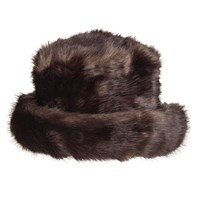 Dents Women S Faux Fur Hat With Brim Coffee