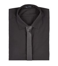 Neil Barrett Leather Tie Shirt Male Black